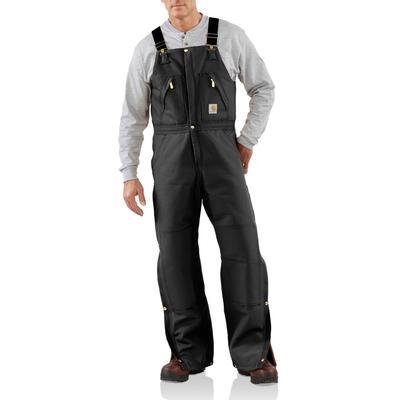 Carhartt R38 Duck Zip- To- Waist Bib Overall - Quilt Lined