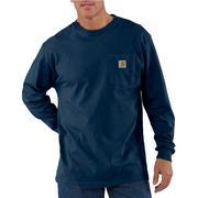 Carhartt K126 Long Sleeve Workwear T-Shirt NVY