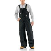 Carhartt R33 Extremes® Arctic Zip Front Bib Overall - Quilt Lined BLK