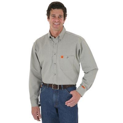 Wrangler Riggs ® Fr Plaid Button Down Shirt