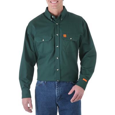 Wrangler Riggs ® Fr Twill Button Down Shirt