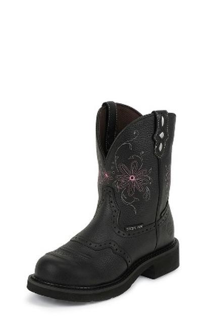 Justin Gypsy Women's Pebbled Steel Toe Work Boots