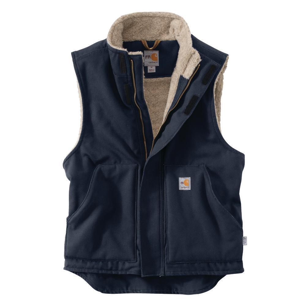 Carhartt Mens Flame-Resistant Mock-Neck Sherpa-Lined Vest