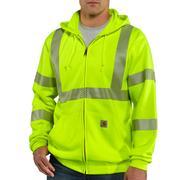High Visibility Zip Front Class 3 Sweatshirt