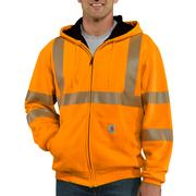 High Visibility Zip Front Class 3 Thermal Lined Sweatshirt