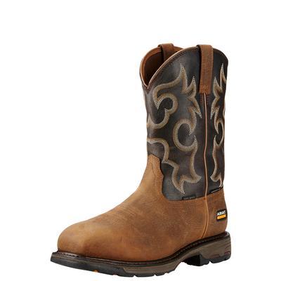 Ariat 10018555 Workhog Wide Square Toe Waterproof 400g Composite Toe Work Boot