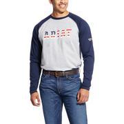 Ariat 10025431 FR Baseball Logo T-Shirt