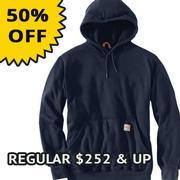 Carhartt 102907 Flame-Resistant Heavyweight Hooded Sweatshirt