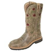 Twisted X WLCS002 Women's Floral Steel Toe Western WorkBoots