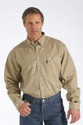 WLW3001012 Men's FR Solid Button Down